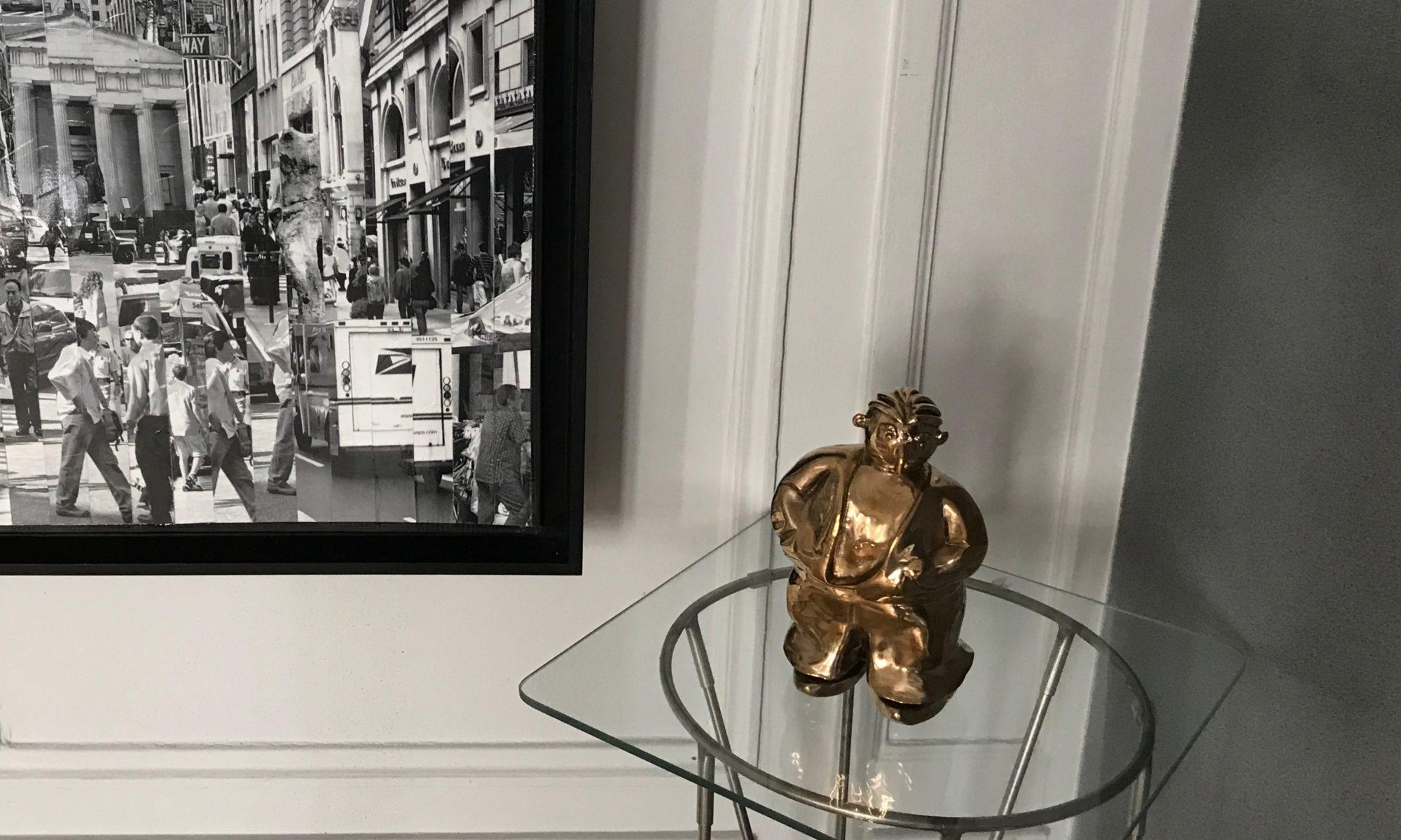 Léon exposé à la galerie Chaon à Granville en Normandie